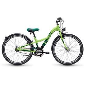 s'cool XXlite 24 7-S - Vélo enfant - steel vert